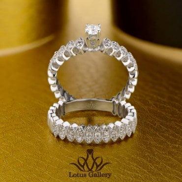 حلقه و پشت حلقه جواهر