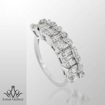 انگشتر جواهر باگت لوکس