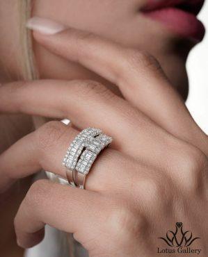 حلقه پشت حلقه جواهر باگت خور