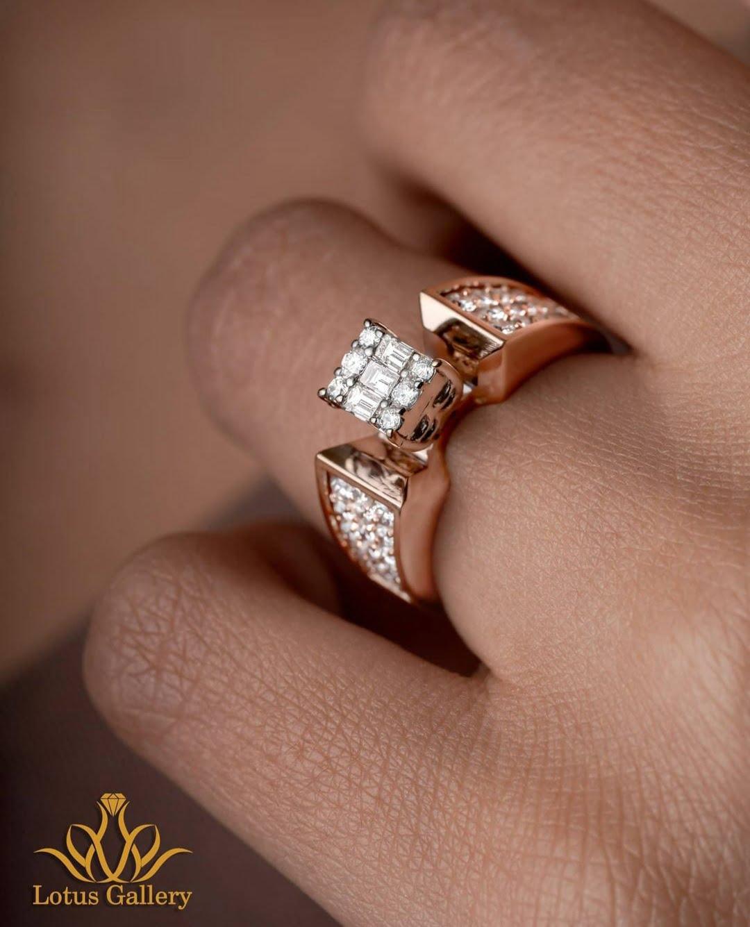 انگشتر کلاسیک جواهر