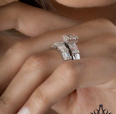 حلقه پشت حلقه جواهر باگت