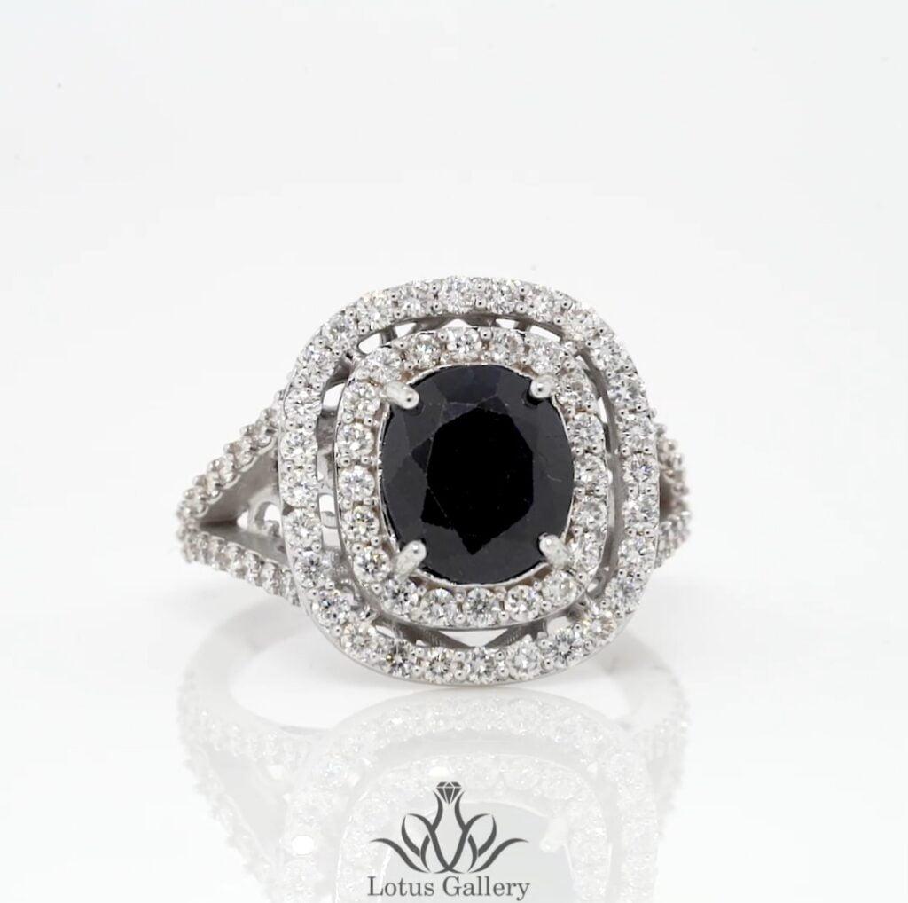 حلقه جواهر یاقوت کبود
