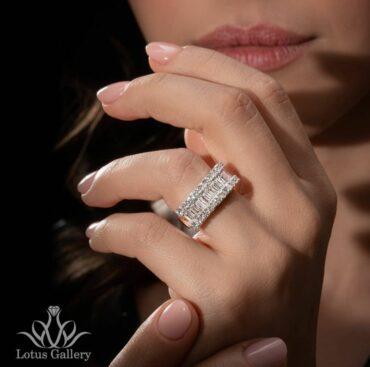 حلقه طلا و جواهر باگت
