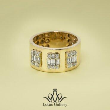 انگشتر جواهر طلا