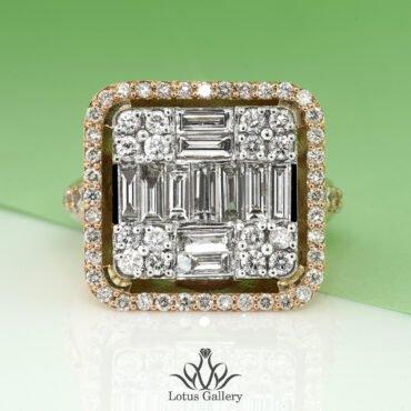 انگشتر طلا برلیان جواهر